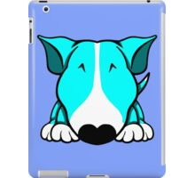 Aqua and White Bull Terrier iPad Case/Skin