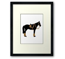 Horse saddle Framed Print