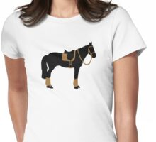 Horse saddle Womens Fitted T-Shirt