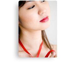 Red Ribbon 2 Canvas Print