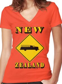 Fire Station-New Zealand Women's Fitted V-Neck T-Shirt