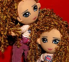 Two Dolls by Pam Bennun