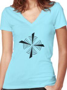 Mandala 39 Back In Black Women's Fitted V-Neck T-Shirt