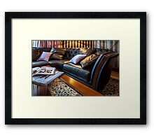 sofa in home Interior Framed Print