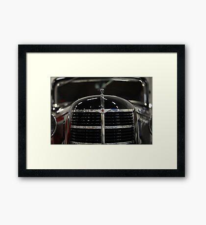 Soviet retro car  Framed Print