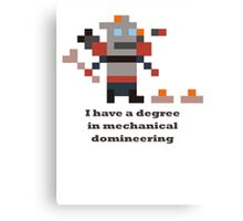 Clockwerk - I have a degree in mechanical domineering Canvas Print