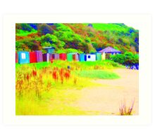 Huts Art Print