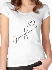 Ariana Grande Signature Women's Fitted Scoop T-Shirt