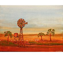 Australiana; (Red Sunset At The Windmill)  Original Sold  Photographic Print