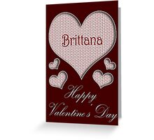Brittana Happy Valentines Day Greeting Card