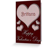 Brittana Happy Valentines Day Greeting Card