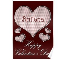 Brittana Happy Valentines Day Poster