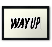 Way Up Framed Print