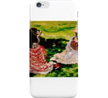 Young girls chatting on grass iPhone Case/Skin