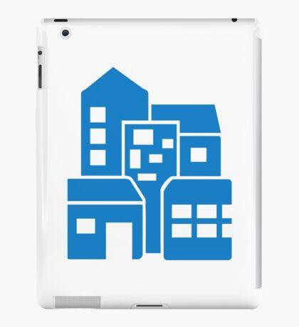 Blue buildings iPad Case/Skin