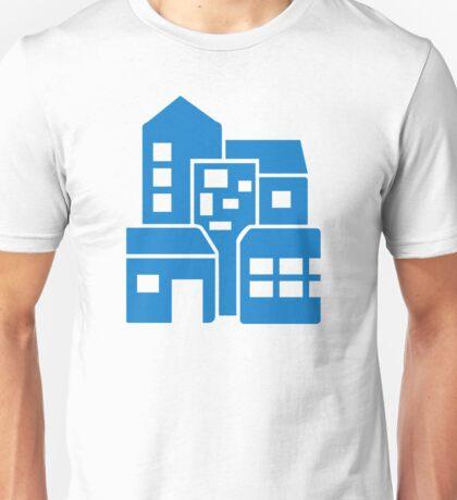 Blue buildings Unisex T-Shirt