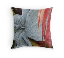 Red Leaves of Autumn Fairy Throw Pillow