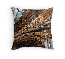 Driftwood Textures Throw Pillow