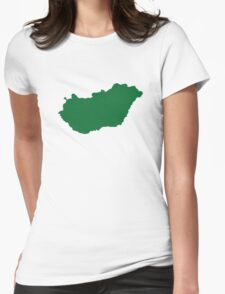 Hungary map Womens Fitted T-Shirt