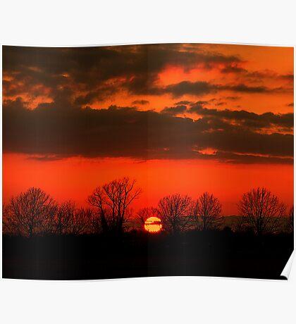 Louisiana Prairie Sunset Poster