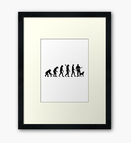 Evolution Hunter Framed Print