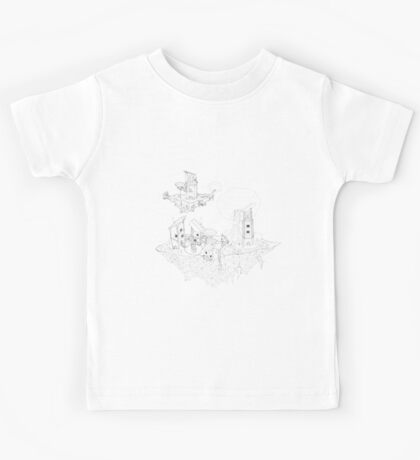 Floating Community - Black and White Kids Tee