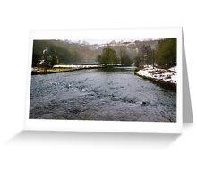 Winter at Monsal Head Greeting Card