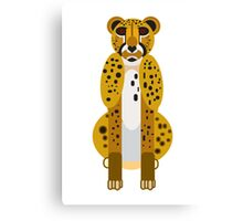 Digital Leopard Illustration Canvas Print