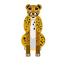 Digital Leopard Illustration Photographic Print
