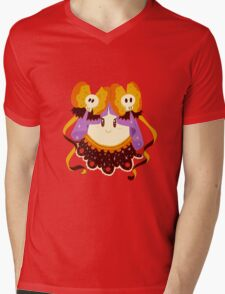Cute Frilly Ghost Mens V-Neck T-Shirt