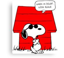 Snoopy Cool Canvas Print