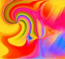 Rainbow Colours-Available As Art Prints-Mugs,Cases,Duvets,T Shirts,Stickers,etc by Robert Burns
