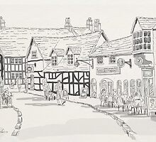 AFTERNOON TEA AT STRATFORD UPON AVON by TONYARTIST