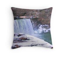 Ice Falls Throw Pillow