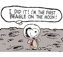 Snoopy on the Moon Photographic Print