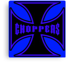 Maltese Cross Black and Blue Canvas Print