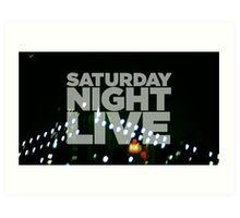 Saturday Night Live Shirt Art Print