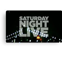 Saturday Night Live Shirt Canvas Print