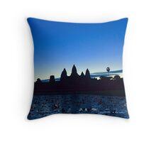 Angkor Wat on Sunrise Throw Pillow
