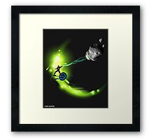 METEOR MAN CLEARS THE WAY Framed Print