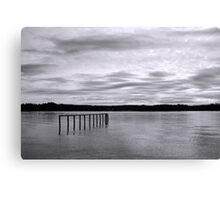The Lonely Pier Canvas Print