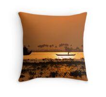 Kerala Backwaters Sunrise Throw Pillow