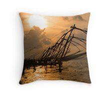 Cochin Sunset Throw Pillow