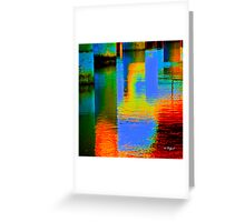 What am I? and Were is it? solved both quetions..under the bridge, lights reflection from the lights under it..  Greeting Card