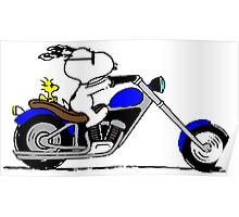 Snoopy on the road Poster