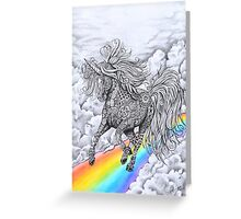 """unicorn"" Greeting Card"