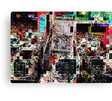 after the game, SUPERBOWL 2015, flipped photo, abstract design, gifts and decor Canvas Print