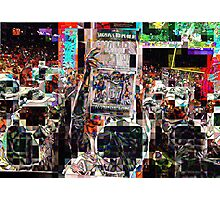after the game, SUPERBOWL 2015, flipped photo, abstract design, gifts and decor Photographic Print