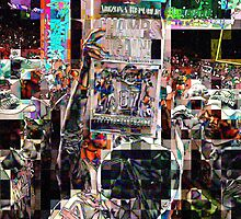 after the game, SUPERBOWL 2015, flipped photo, abstract design, gifts and decor by ackelly4