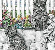 """""""Zen Cats"""" by susanrobjantart"""